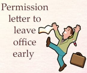 Permission Letter to Leave Office Early