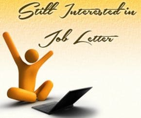 Still Interested in Job Letter