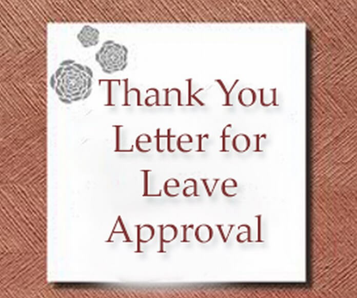 thank you letter for leave approval sample