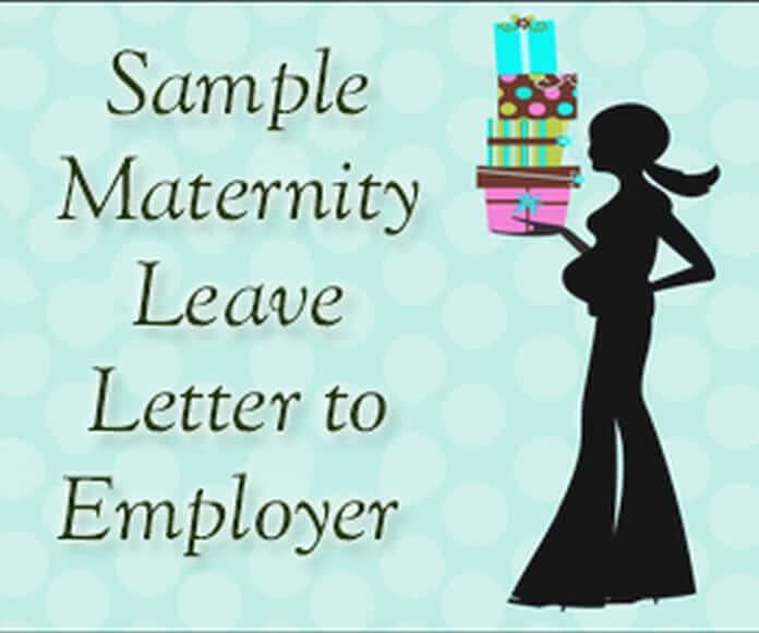 sample maternity leave letter to employer