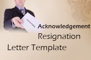 Acknowledgement Resignation Letter Template