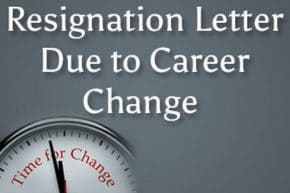 Career Change Letter of Resignation