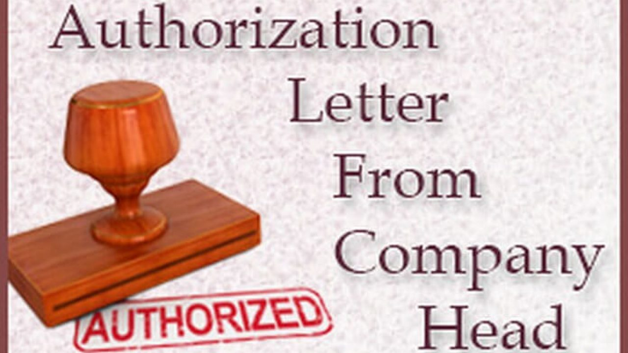 Authorization Letter From Company Head Hr Letter Formats