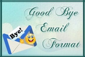Good Bye Email Format