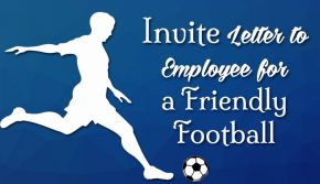 Invite letter employee friendly football and Cricket match