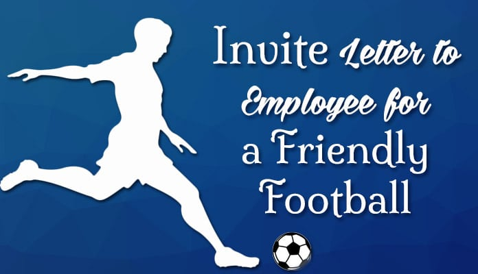Invitation Letter To Employees Of Company For Friendly