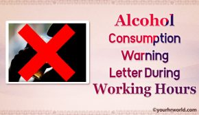 Warning Letter Alcohol Consumption During Working Hours