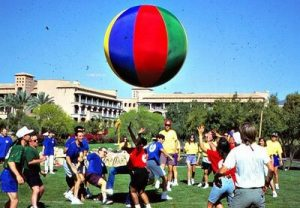 Fun Moon Ball Team Building Game