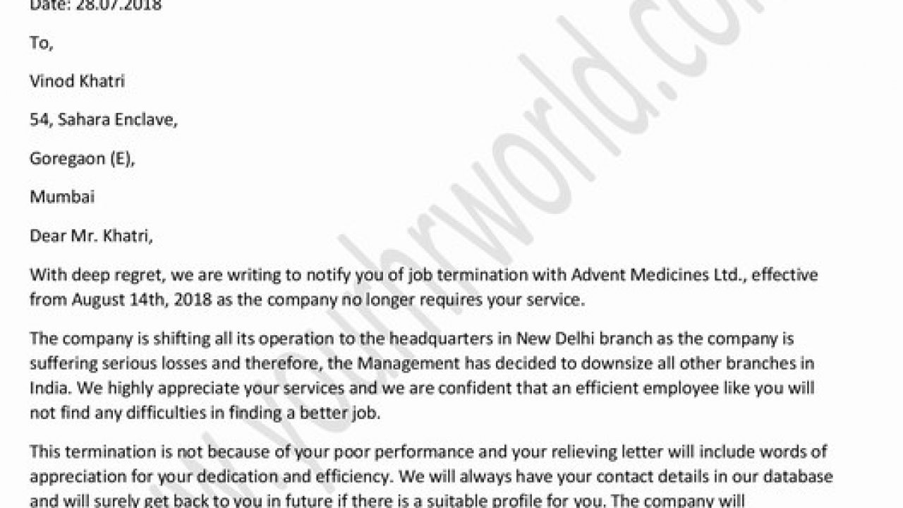Draft Poor Performance Letter from www.yourhrworld.com