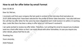 how to ask offer letter by email, Waiting for Offer Letter Mail, appointment letter