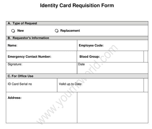 New-Employee-ID-Card-Request-Form Job Application Form Request Letter on best example nursing, template word, example written, for any position, written form, interest sample, for chef, for hotel,