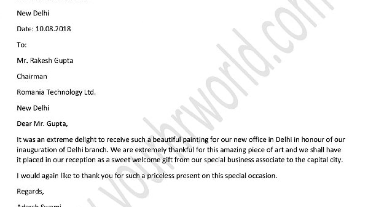 Company Thank You Letter from www.yourhrworld.com