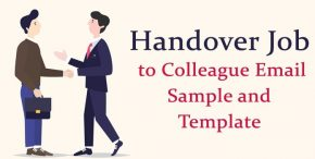 Handover Job to Colleague Email Sample - Job Template
