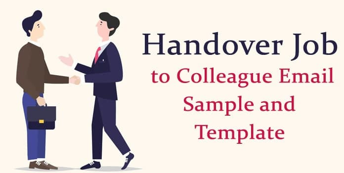 Handover Job To Colleague Email Sample And Template Hr
