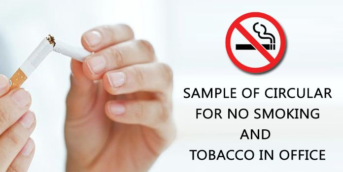 Sample Circular Format for No Smoking in office - no smoking letter