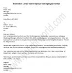 Promotion Letter from Employer to Employee - Sample Promotion Letter