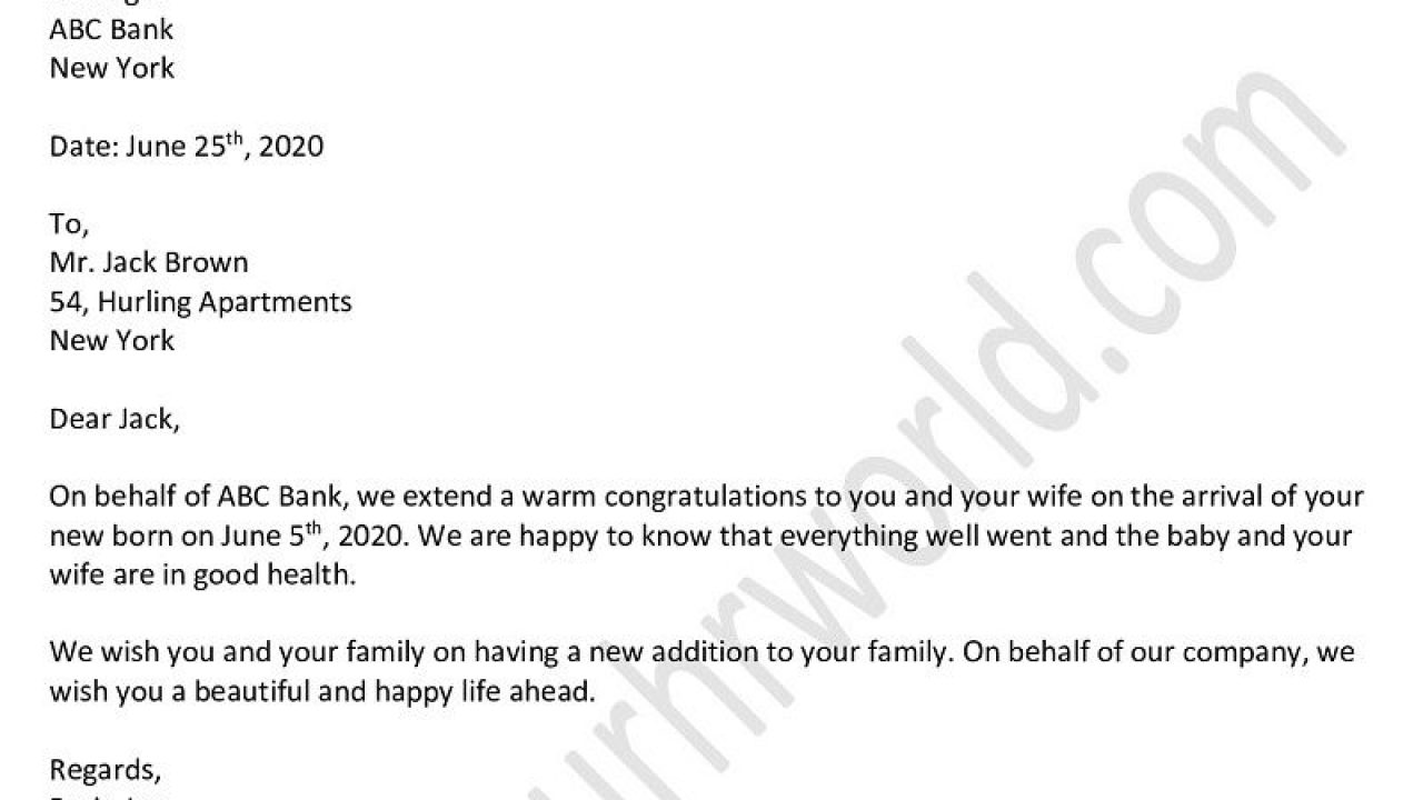 Congratulatory Letter For New Job from www.yourhrworld.com