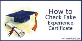 fake experience certificate, fake certificate, job certificate