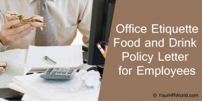 Office etiquette food and drink Policy Letter, Eating Etiquette, employees