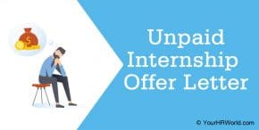 Unpaid Internship Offer Letter, Internship Letter Example Format