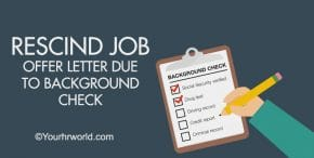 Job Offer Letter Due to Background Check Sample