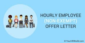 Hourly Employee Offer Letter Template Non-Exempt Position