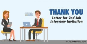 Sample Second Round Interview invitation Thank You Letter