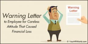 Warning Letter to an Employee for Carelessness