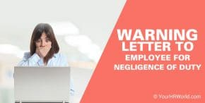Warning Letter to Employee for Negligence of Duty